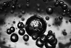 (Hunter McGinnis) Tags: blackandwhite white motion black blur reflection window glass silhouette metallic grain dream bubbles conceptual