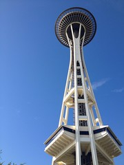 Space needle during my run. (patrickbseattle) Tags: