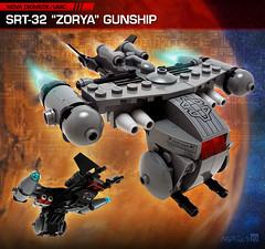 "SRT-32 ""Zorya"" Gunship (Morgan190) Tags: sky mars stars grey lego space military helicopter spaceship fighting mythology martian colony gunship colonies m19 umc slavic bley zorya morgan19 unitedmartiancommonwealth novadiomede"