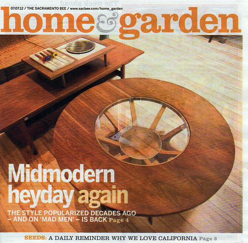 Sacramento Bee: July 7, 2012. Home + Garden section, cover