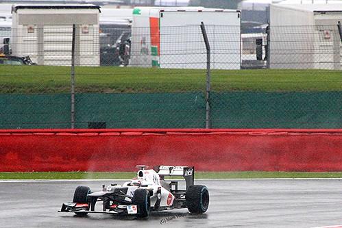 Kamui Kobayashi's Sauber at Silverstone