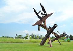 Johnny Appleseed (jpellgen) Tags: park summer sculpture usa art minnesota america nikon midwest modernart steel franconia markdisuvero tamron mn 2012 shafer johnnyappleseed 18200mm chisago d3100
