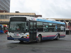First Potteries 65040, YN06 WMO (DoncasterDarts) Tags: scania omnicity firstpotteries cn94ub yn06wmo