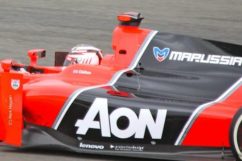 Max Chilton in his Marussia GP2 car at Silverstone