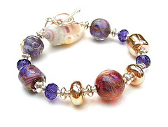 Silk (Beguiled By The Bead) Tags: purple silk jewelry bracelet lampwork jeweller sterlingsilver artisanlampwork