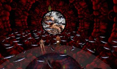 M&A Deluxe in Second Life (A&M Deluxe) Tags: woman baby fish togetherness surreal sl relationship secondlife butthole photomodeling