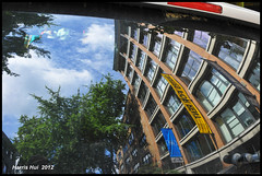 Fisheye Perspective With Normal Lens - Reflection Gastown N10369e (Harris Hui (in search of light)) Tags: trees sky distortion canada reflection vancouver clouds 35mm nikon bc streetshots streetphotography richmond simplicity simple gastown buidling d300 normallens fixedlens standardlens primelens bstract nikonuser beautyinthemundane fisheyeperspective nikond300 nikon35mmf18 harrishui ilovereflection vancouverdslrshooter standardfocallength 50mmstandardfocallength fisheyeperspectiveseeninanormalfocallengthlens