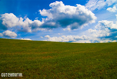 Nothing but grass and sky (dutchmetal) Tags: travel blue sun travelling green nature grass clouds germany landscape deutschland groen blauw thuringen natuur wolken gras lucht zon duitsland reizen trusetal