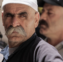 To Be, a Man, In this World (ybiberman) Tags: portrait man hat israel jerusalem moustache druze