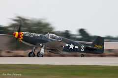 P-51 Old Crow (Jason Pineau) Tags: old wisconsin airplane experimental fighter aircraft aviation airshow crow mustang panning warbird association eaa oshkosh airventure p51 northamerican