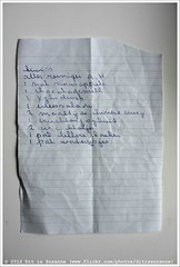 Shopping list | Boodschappenlijstje #215 (Dit is Suzanne) Tags: img4941 31072012 boodschappenlijstje shoppinglist sigma30mmf14exdchsm ditissuzanne canoneos40d noncoloursincolour kiwis allesreinigerah sinasappels chocolademelk vleessalade maaltijdchinesecurry vruchtenjoghurt wcblokjes lekkerekoeken waterijsjes yghidrink  views200