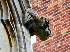 St Peter's Church, St Albans, grotesque (Peter O'Connor aka anemoneprojectors) Tags: stpeters church gargoyle chimera hertfordshire stalbans grotesque stpeter listedbuilding gradec z981