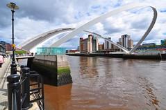 Gateshead Millennium Bridge (AndrewH324) Tags: england art newcastle for contemporary centre millennium northern newcastleupontyne bridgetyne andrewhorne bridgemillennium englandquaysidegatesheadgateshead rivertynebaltic centrebaltic andrewrichardhorne