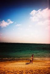 000025 (qwj) Tags: ocean sea sky film beach clouds 35mm lomo lca lomography kodak mauritius e100vs e2c