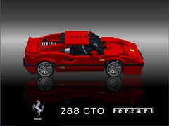 Ferrari 288 GTO Berlinetta (lego911) Tags: auto italy car model italian lego render 18th ferrari turbo gto challenge v8 60th cad sportscar racer lugnuts gtb 288 f40 moc groupb 308 berlinetta ldd miniland evoluzione attheraces foitsop lego911