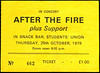 "19791025-After The Fire-Students' Union-Queens University-Belfast-25-Oct-1979-ticket-DC Cardwell<br /><span style=""font-size:0.8em;"">We'd seen this band at Greenbelt two months before and they were pretty neat. Punk/new wave energy but lashings of synthesizer and really great tunes. It still seems to me that they did that before almost anyone else did. We didn't actually see this show, though. They came on so very late that it was past the last train home and we had to leave!</span> • <a style=""font-size:0.8em;"" href=""http://www.flickr.com/photos/87767114@N03/8157317235/"" target=""_blank"">View on Flickr</a>"