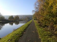 Leeds-Liverpool canal, Burnley (SWJuk) Tags: uk autumn england home canal lancashire autumnal 2012 burnley leedsliverpoolcanal straightmile myfreecopyright swjuk nov2012 samsunggts5839i