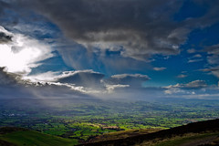 Up in the clouds (stumpyheaton) Tags: blue sky wales clouds landscape nikon moel famau d5100