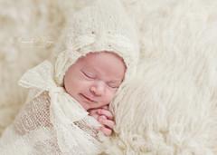 Tiny girl ({amanda}) Tags: baby small cream handknit tiny newborn amandakeeysphotography littlelabyrinthlace
