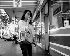 7 (McLovin 2.0) Tags: street girls people urban blackandwhite bw cigarette candid streetphotography melbourne smoking explore streetphoto 7eleven explored sonyrx1