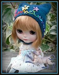 Eurotrash folklore teal kitty helmet♥