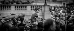 Standing Out From The Crowd (Sean Batten) Tags: street city england urban blackandwhite bw london nikon unitedkingdom streetphotography trafalgarsquare 70200 d800