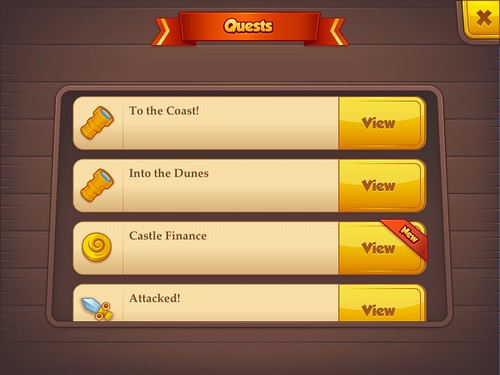 Tiny Castle Missions: screenshots, UI