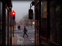 Princes Street (Tragopodaros) Tags: road city red bus wet rain misty lights scotland spring highway edinburgh crossing gloomy traffic capital princesstreet atmosphere streetscene explore busy stop april atmospheric damp redlights gloaming capitalcity scotchmist inexplore springtimeinscotland