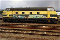(Alex Ellison) Tags: panel boobs railway graff runner trackside paintedtrain europeangraffiti