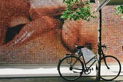 Bike and love (Shahrazad_84) Tags: barcelona street streetart art love bike spain kiss lips bycicle