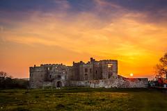 Carew Castle (Ukfalc) Tags: sunset wales canon pembrokeshire carewcastle carew 1635ii canon600d