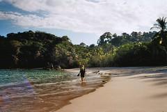 untitled. (rwed) Tags: ocean travel parque film beach nature water analog trekking agua costarica pacific kodak outdoor playa hike jungle palmtree manuel backpack t5 antonio nacional yashica centralamerica mochilero