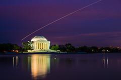 Jefferson Memorial (PATSA84) Tags: longexposure nightphotography usa reflections washingtondc nightshot unitedstates jeffersonmemorial lighttrail