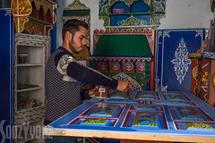 Varnishing Painted Wood (Sue_Hutton) Tags: shop rural woodwork spring morocco maroc workroom tangier tanger asilah varnishing