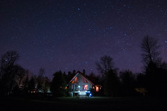 Polaris y mi casa (BryanNewland) Tags: myhouse nightsky upnorth upperpeninsula starrynight polaris yooper northstar baymills puremichigan michigannights baymillsindiancommunity