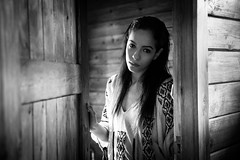 Lola - Sometimes goodbye is just a painful way of saying I love you (aminefassi) Tags: wood portrait people bw copyright fashion morocco maroc mode windowlight    explored aminefassi lolamarfy