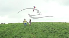 Teens With Kite On A Field In Summer (alekseiptitsa) Tags: summer vacation sky people sunlight holiday kite man game cute girl childhood fun outside happy person freedom fly flying kid child play wind outdoor joy young lifestyle teen together recreation activity caucasian