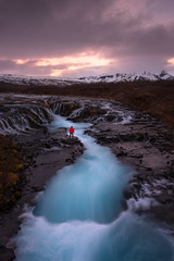 Aqua Falls (mitalpatelphoto) Tags: longexposure travel light sunset mountain green water vertical clouds landscape photography is waterfall iceland nikon aqua europe south visit adventure explore