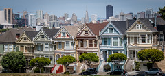 Painted Ladies (Abhijit B Photos) Tags: sanfrancisco california city urban house building architecture colorful downtown pattern outdoor victorian haightashbury slope victorianhouses paintedladies alamosquare