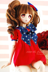 ~ Mia ~ <3 (1000 No Kotoba) Tags: flowers blue red people cute girl beautiful rose japan ball garden photography costume eyes nikon lab doll slim photoshoot bright skin body vibrant ooak no gorgeous navy stripe dream indoor lolita bow mia kawaii anchor ribbon bjd normal nautical resin custom dd dollfie volks sq abjd 1000 gyaru jointed kotoba ddh 53cm faceup d80 sqlab clockworkangel ddh06