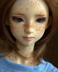 IMG_9220 (AlisonVonderland) Tags: boy brown cute doll natural sweet girly luke redhead teen bjd freckles trans custom queer abjd genderqueer freckled androgynous faceup happydoll