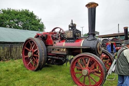 "UK, Woolpit Steam Rally, ""Jessie"", Bartrupt, Charles Burrel Traction Engine"