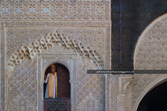 At the window (Barbara Oggero) Tags: street streetphotography travel morocco marocco window islamic muslim caputre priest prayer religion maghreb africa north meknes imperial city town architecture arch madrassa school