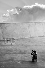 The Photographer (Stphane Slo) Tags: city urban bw france architecture clouds photographer lyon noiretblanc pentax rhne muse nb nuages printemps ville rhnealpes musedesconfluences pentaxk3ii