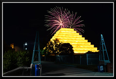 FireWorks_3000 (bjarne.winkler) Tags: from ca cats game west building home river fireworks side sacramento behind ziggurat the