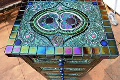 Mosaic Peacock Chest of Draws (Nikkinella) Tags: mosaic peacock tiles glassmosaic chestofdraws temperedglass