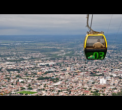 Overlooking Salta (Argentina) (departing(YYZ)) Tags: travel southamerica argentina landscape nikon transport sigma dslr 1770 salta yyz departing filtered 2011 d90 f2840 telefirico departingyyz