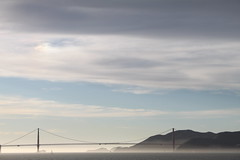 Golden Gate Bridge (commishkorey) Tags: sanfrancisco bridge fog sailboat haze scenic goldengatebridge goldengate picturesque sfbay sanfranciscofog ggnpc11