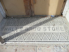 Jackson, MS Hall's Drug Store storefront tile (army.arch) Tags: mississippi tile downtown halls jackson historic storefront ms drugstore historicpreservation historicdistrict nationalregister nationalregisterofhistoricplaces nrhp