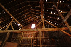 Old barn interior (Images by MK) Tags: barn farm trolley hay timbers